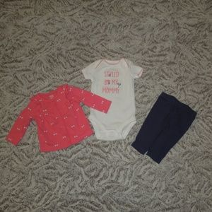 3-Piece Outfit Style By My Mommy Fireflies Sweater